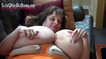 Suzie Giant Breasts Play