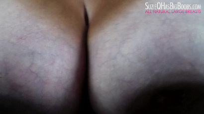Suzie Oiled TIts on Glass