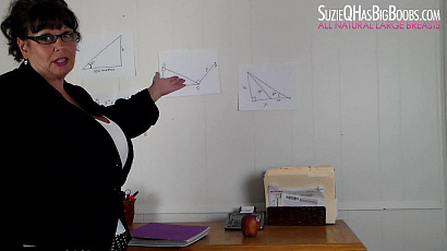 Busty Teacher Milf Gets Topless