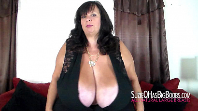 Suzie Huge Boobs Striptease