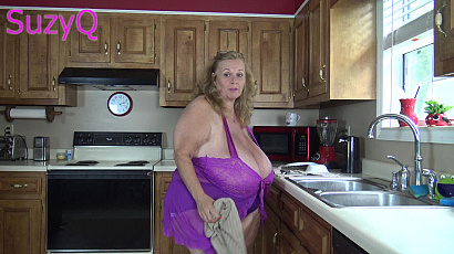 SuzieQ Kitchen Big Tits Action