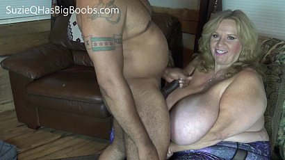 Suzie 44K First Boob Cum Shot