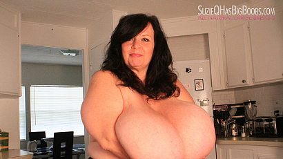 Suzie Big Breasts Kitchen Fun