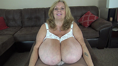Suzie 44K Giant Breasts in Nursing Bra