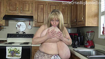 Suzie Q Horny In the Kitchen