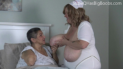 Nurse Suzie Takes Care of Amputee