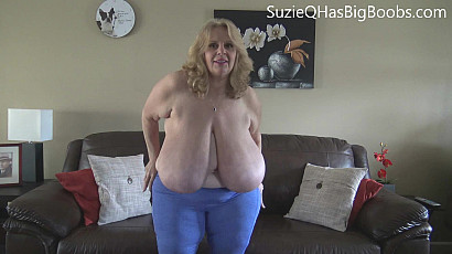 Suzie Topless Yoga Workout