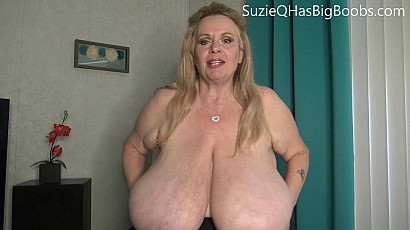 Suzie Busting Out Heavy Titties